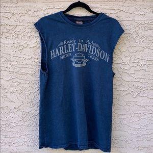 CALGARY club Harley Davidson sleeveless top